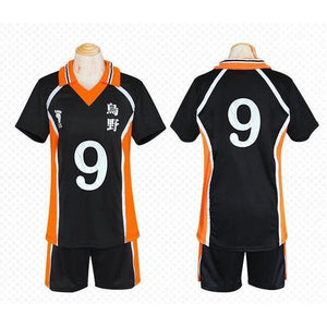 Haikyuu!! Cosplay Karasuno High School Volleyball Jersey Uniform Costume [12 Styles] #JU2127-#9-M-Juku Store