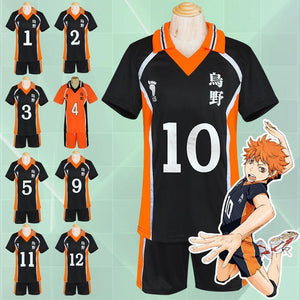 Haikyuu!! Cosplay Karasuno High School Volleyball Jersey Uniform Costume [12 Styles] #JU2127-Juku Store
