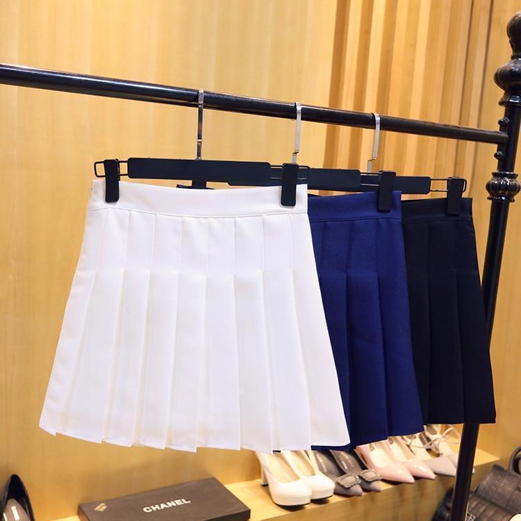 Harajuku High Waist Pleated A Line School Skirt [9 Styles] #JU2260-Juku Store