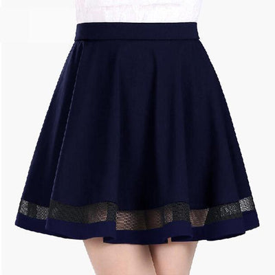 Harajuku Mini Skirt Faldas [5 Colors] #JU2205-Navy Blue-S-Juku Store