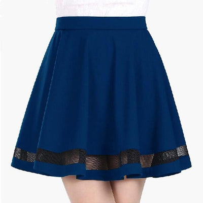 Harajuku Mini Skirt Faldas [5 Colors] #JU2205-Royal Blue-S-Juku Store