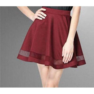 Harajuku Mini Skirt Faldas [5 Colors] #JU2205-Wine Red-S-Juku Store