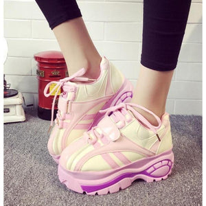 Harajuku Platform Casual Shoes Retro Style [2 Colors] #JU2147-Juku Store