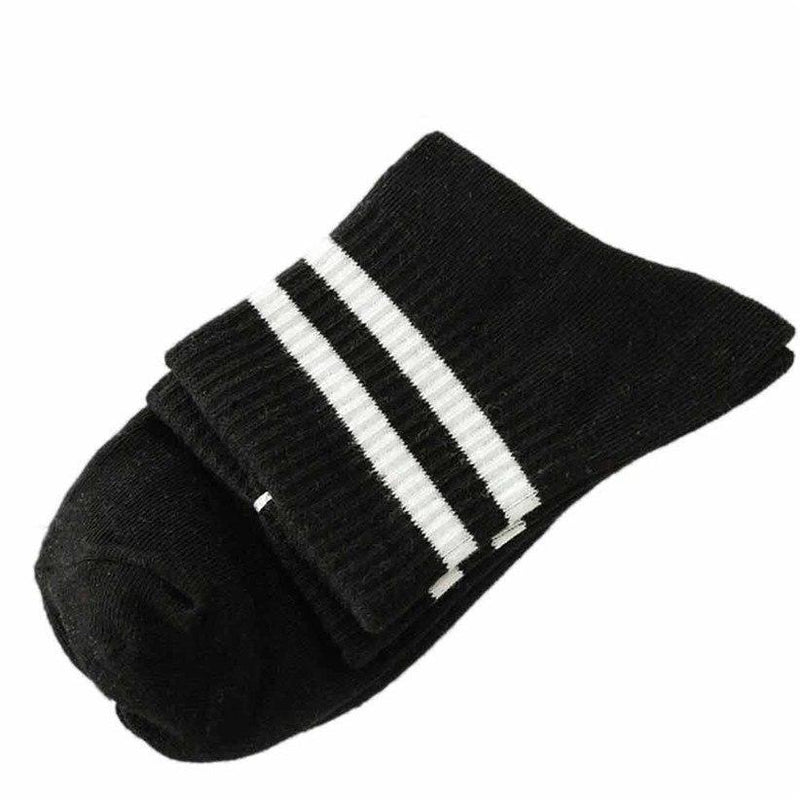 Harajuku Soft Cotton Socks Striped Over Ankle [5 Colors] #JU2046-Juku Store