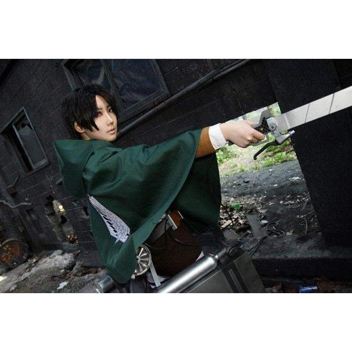 High-Density Fabric Attack on Titan Cosplay Cloak Shingeki no Kyojin #JU1886-S-Juku Store