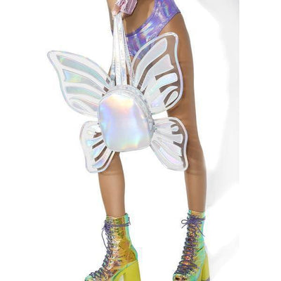 Holographic Butterfly Wings Backpack Kawaii Fashion Bag #JU2764-Juku Store