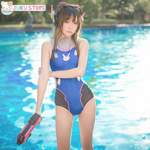 (HOT!) Overwatch D.Va / Mercy / Widowmaker Cosplay Swimsuit [3 Styles] #JU1853-Juku Store