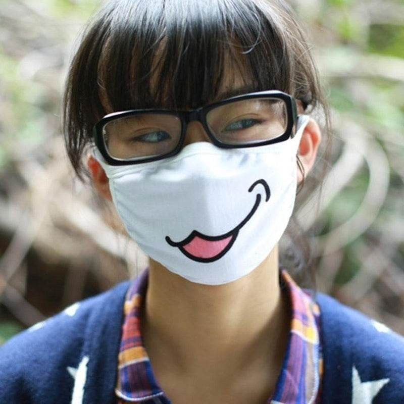 Japanese Anime Emoji Face Mask [14 Variations] #JU1807-Juku Store