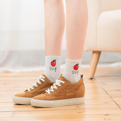 Japanese Fruit Design Cotton Socks [5 Styles] #JU2246-Juku Store