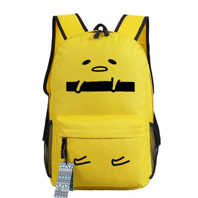 Japanese Gudetama Canvas Backpack [11 Styles] #JU1868-Style 1-Juku Store