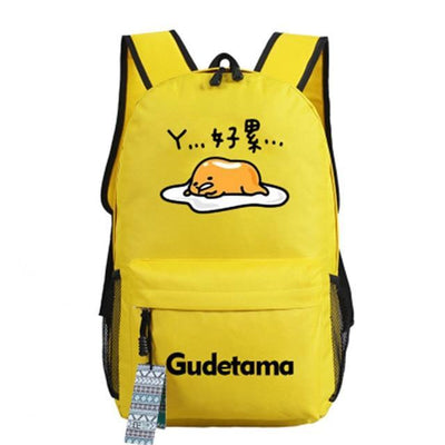 Japanese Gudetama Canvas Backpack [11 Styles] #JU1868-Style 11-Juku Store