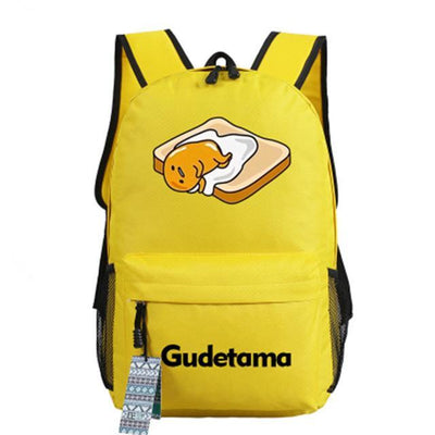 Japanese Gudetama Canvas Backpack [11 Styles] #JU1868-Style 3-Juku Store
