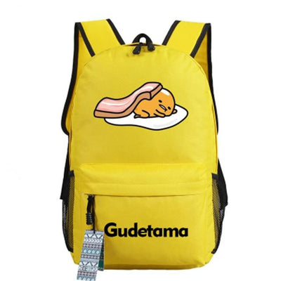 Japanese Gudetama Canvas Backpack [11 Styles] #JU1868-Style 4-Juku Store