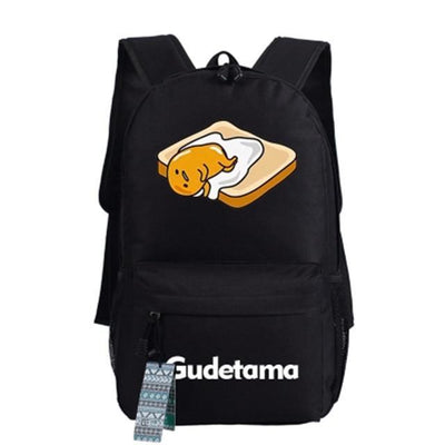 Japanese Gudetama Canvas Backpack [11 Styles] #JU1868-Style 6-Juku Store