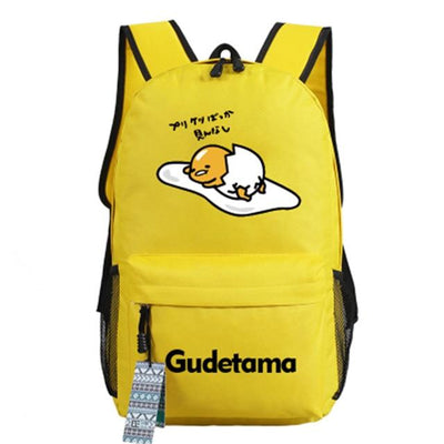 Japanese Gudetama Canvas Backpack [11 Styles] #JU1868-Style 9-Juku Store