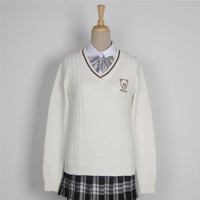 Japanese School Uniform V-neck Sweater #JU2241-L-Juku Store