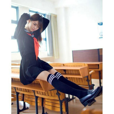 JK Japanese School Sailor Uniform 3 Pc Cosplay Set [3 Colors] #JU1854-Juku Store