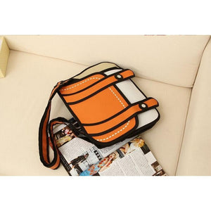 Kawaii 2D Anime Drawing Messenger Bag [5 Colors] #JU1826-Juku Store