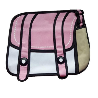 Kawaii 2D Anime Drawing Messenger Bag [5 Colors] #JU1826-Purple-Juku Store