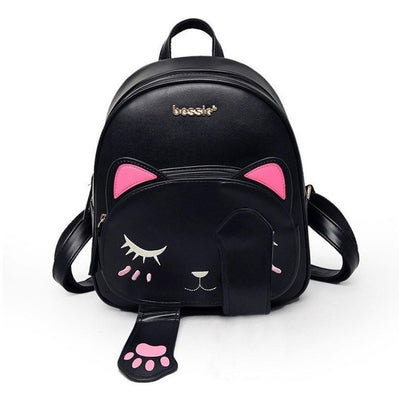Kawaii Cat Designer Backpack w/ Magnetic Paws [3 Colors] #JU1799-Juku Store