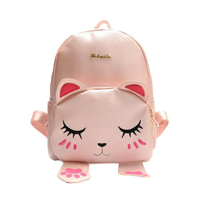 Kawaii Cat Designer Backpack w/ Magnetic Paws [3 Colors] #JU1799-Pink-Juku Store