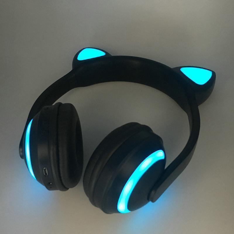 Kawaii Cat Ear Wireless LED Bluetooth Headphones [7 Colors] #JU2057-Juku Store