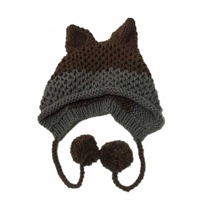 Kawaii Fox Ears Beanie Knitted Winter Hat #JU3070-Juku Store