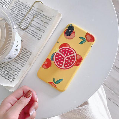 Kawaii Fruit iPhone Case and Ring Holder #JU2484-Pomegranate-For iPhone 11Pro Max-Juku Store