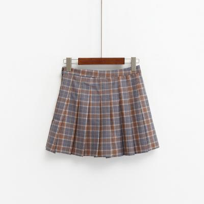 Kawaii Harajuku Style High Waist Plaid Mini Skirt [3 Colors] #JU2049-Brown-S-Juku Store