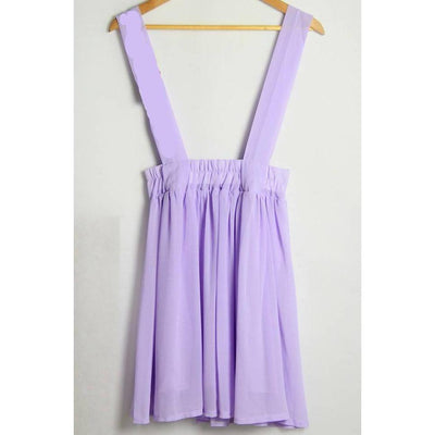 Kawaii High Waist Suspender Skirt [5 Colors] #JU1966-Lavender-S-Juku Store