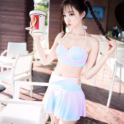 Kawaii Mermaid Sea Shell Bikini Swimwear Set [4 Styles] #JU1914-Juku Store