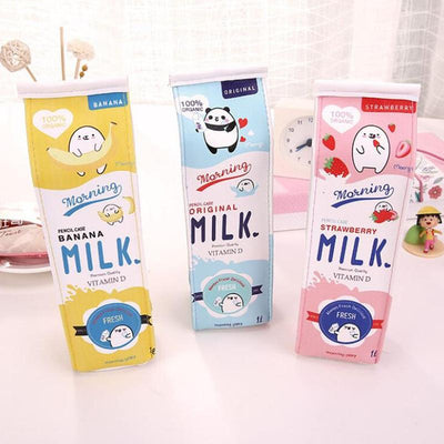 Kawaii Milk Box Pencil Case Stationery Pen Pouch #JU2907-Juku Store