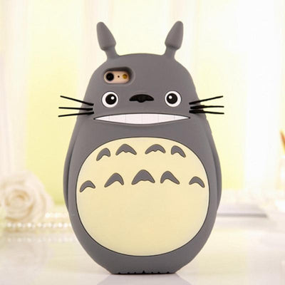 Kawaii My Neighbor Totoro 3D Bump Resistant Case For iPhone #JU2175-For iPhone 5 5S SE-Juku Store