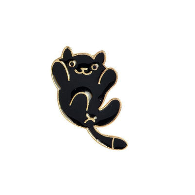 Kawaii Neko Atsume Cat Heart Backpack Pin Clips #JU2003-Style 3-Juku Store