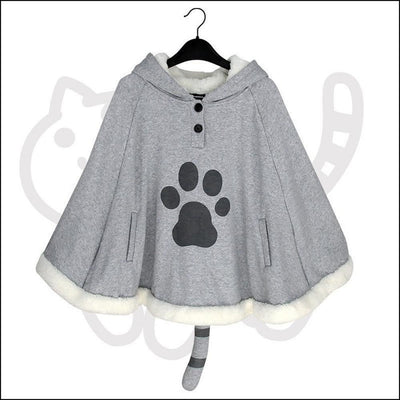 Kawaii Neko Atsume Cloak Kitty Cat Fleece #JU1793-Juku Store