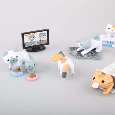 Kawaii Neko Atsume Kyuujitsu Cat Figure Models 8pc/set #JU1952-Juku Store