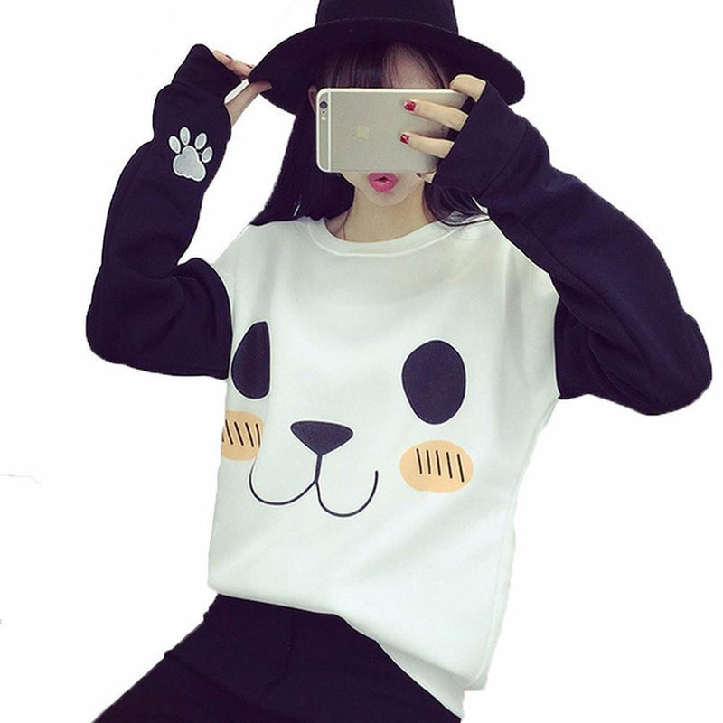 Kawaii Over-sized Panda Sweatshirt #JU1847-M-Juku Store