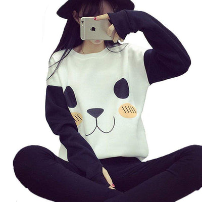 Kawaii Over-sized Panda Sweatshirt #JU1847-Juku Store