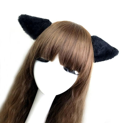 Kawaii Pastel Cat Ear Hair Clip Headband [6 Colors] #JU2004-Juku Store