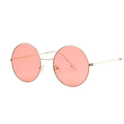 Kawaii Pastel Round Sunglasses [8 Colors] #JU2267-Red-Juku Store
