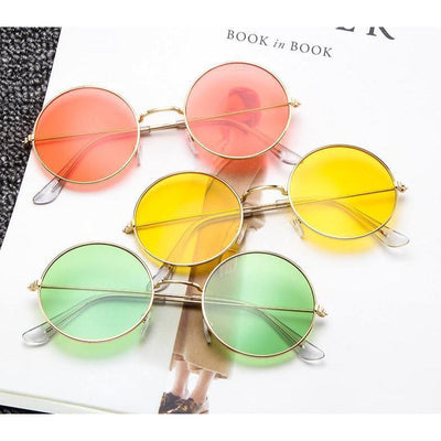 Kawaii Pastel Round Sunglasses [8 Colors] #JU2267-Juku Store