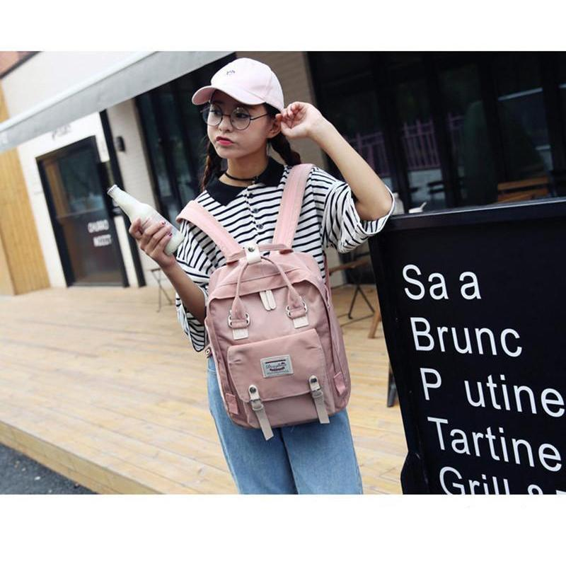 Kawaii Pastel Waterproof Backpack [5 Colors] #JU1973-Pink-Juku Store