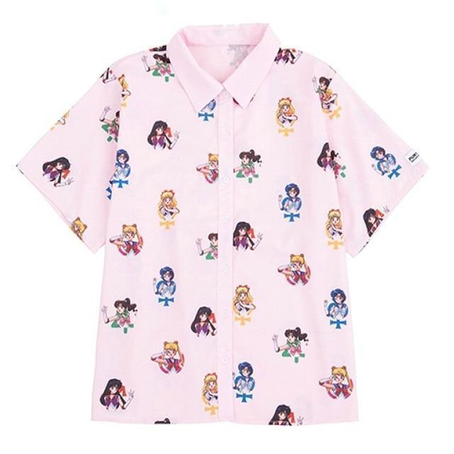 Kawaii Pink Sailor Moon Blouse #JU2183-S-Juku Store