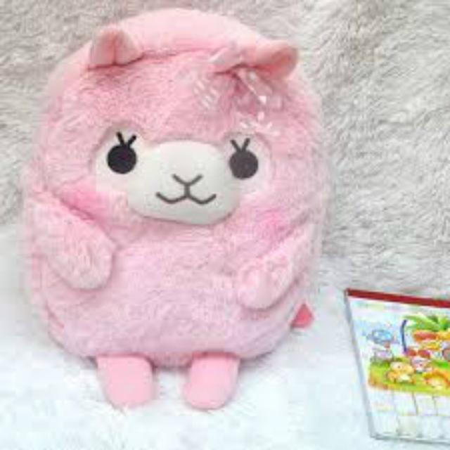 Kawaii Plush Alpaca Backpack [5 Colors] #JU2212-Juku Store