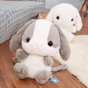 Kawaii Plush Bunny Backpack [4 Colors] #JU1986-Juku Store