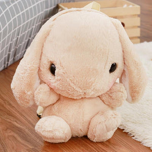 Kawaii Plush Bunny Backpack [4 Colors] #JU1986-Brown-Juku Store