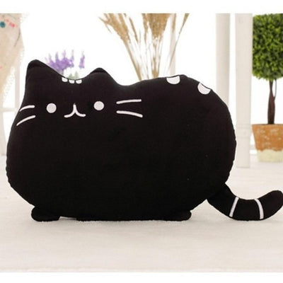 Kawaii Pusheen Cat Cushion Pillow Plush [5 Colors] #JU1810-Black-25x20cm-Juku Store