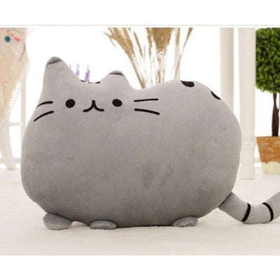 Kawaii Pusheen Cat Cushion Pillow Plush [5 Colors] #JU1810-Grey-25x20cm-Juku Store