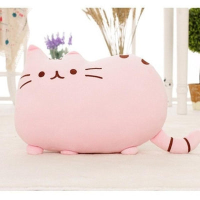 Kawaii Pusheen Cat Cushion Pillow Plush [5 Colors] #JU1810-Pink-25x20cm-Juku Store