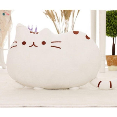 Kawaii Pusheen Cat Cushion Pillow Plush [5 Colors] #JU1810-White-25x20cm-Juku Store